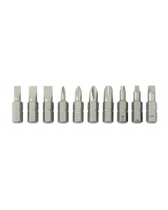 Slotted, Phillips, Square 10 piece Insert Bit Set